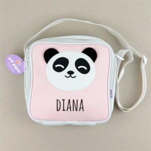Bolsa isotérmica Panda personalizada vuelta al cole mi pipo mordisquitos