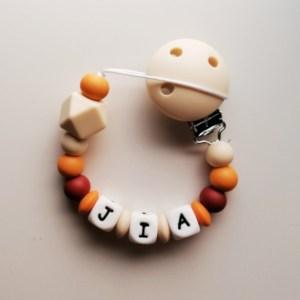 Chupetero de silicona personalizado para bebé Dalia Mordisquitos