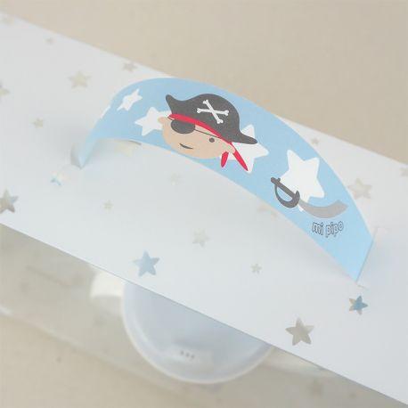 Vajilla pirata personalizada para bebés y niños