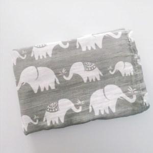 Muselina 100% algodón elefantes arrullo bebé mordisquitos