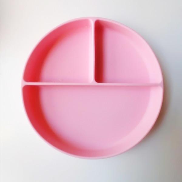 Plato de silicona con compartimentos alimentacion complementaria bebe blw