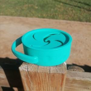 Porta snacks de silicona taza plegable blw mordisquitos merienda para llevar