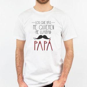 Camiseta regalo día del padre los que más me quieren me llaman papá
