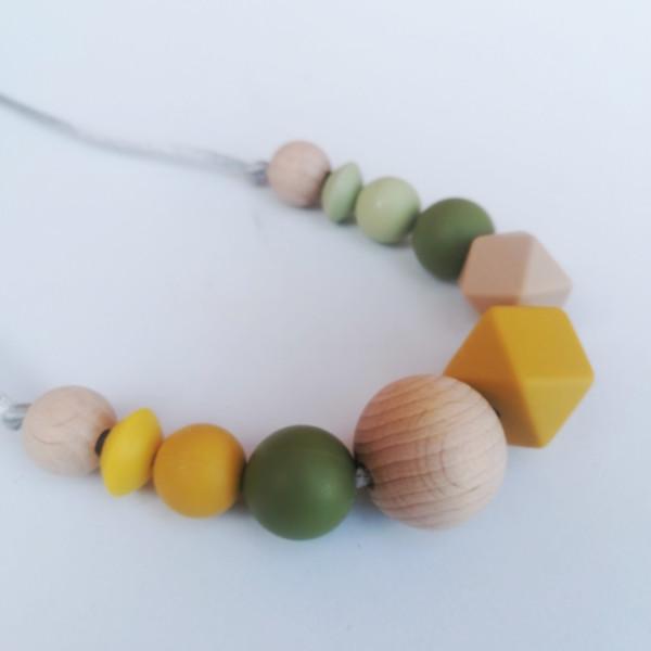 Collar de lactancia y porteo Arya Mordisquitos silicone necklace nursing jewelry