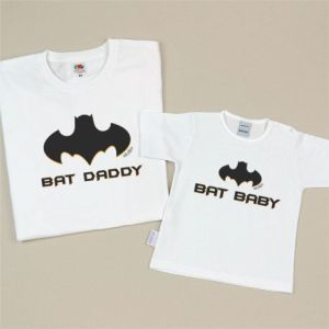 Pack prendas regalo dia del padre batman bat daddy bat baby