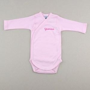 Body manga larga Babidú bebé recién nacido primera puesta personalizada