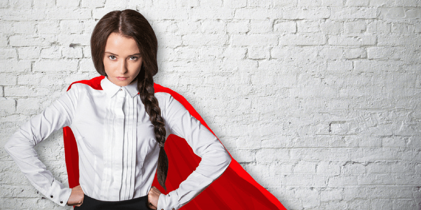 woman wearing a cape and doing it all to help her family deal with an eating disorder