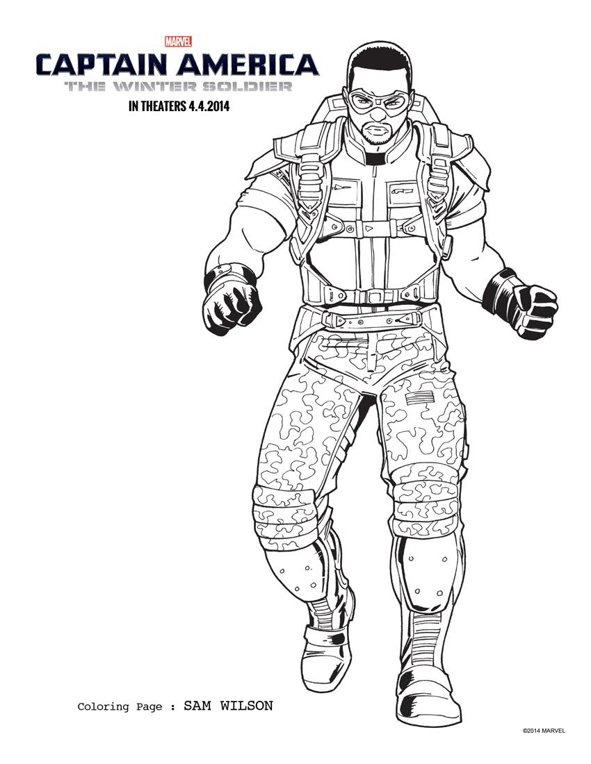 Captain America: The Winter Soldier Coloring Sheets!