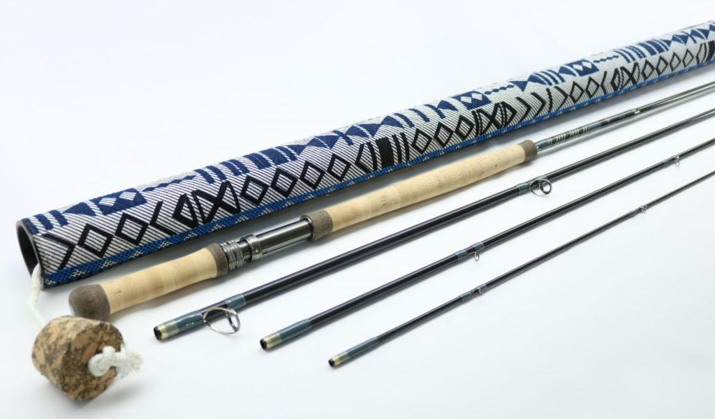 13ft 4 piece 6-7 weight two hand fly rod with tube
