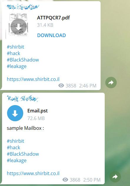 Shirbit data leaked on Telegram