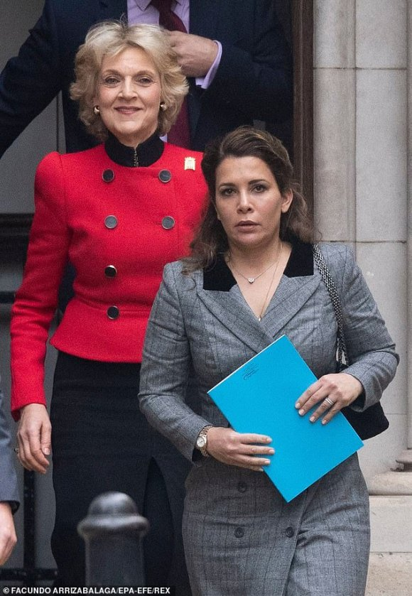 New court papers have shown that Princess Haya Bint al-Hussein of Jordan, pictured right, and her lawyer Baroness Fiona Shackleton, left, had their phones hacked