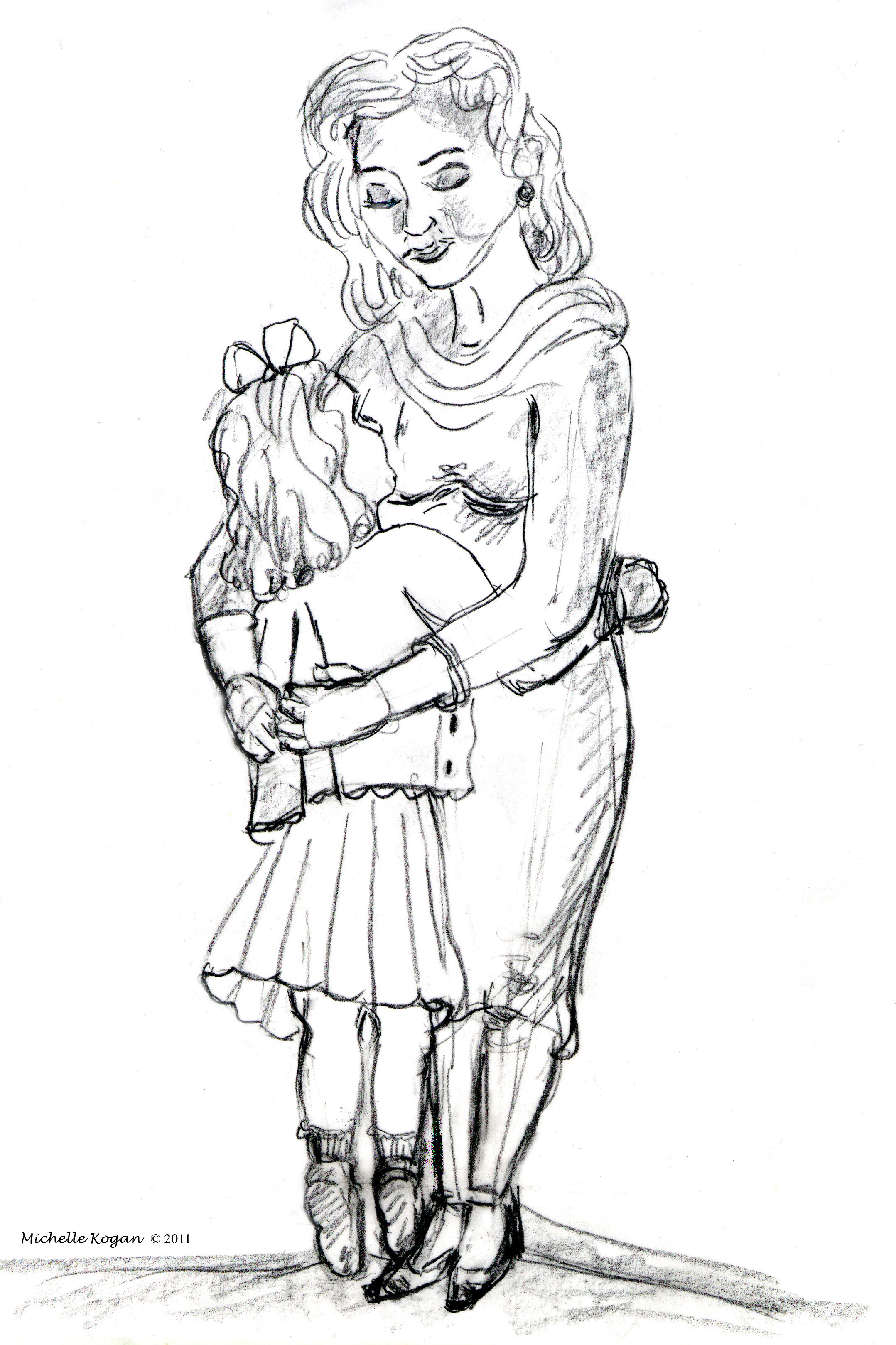Quick Sketch for Mother's Day: Mothers & Daughters