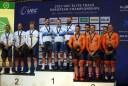 トラック・ヨーロッパ選手権2017男子チームスプリント表彰式