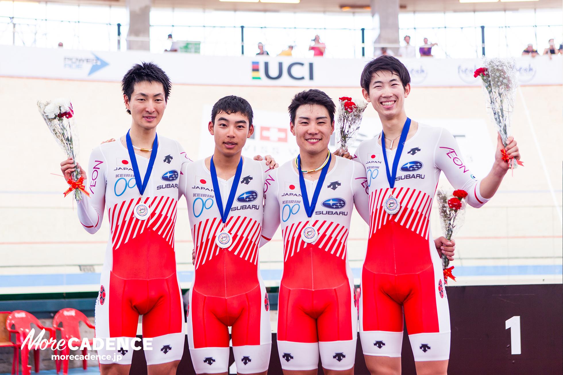男子チームパシュート表彰式