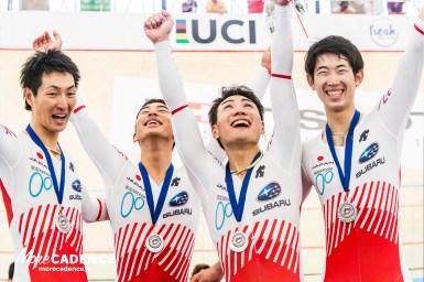 日本が銀メダル!男子種目で初、日本レコードも更新/2017-18トラックワールドカップ4戦・男子団体追い抜き