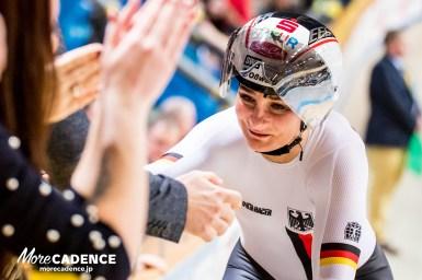 重圧を乗り越えフォーゲル10度目の世界タイトルで嬉し泣き「私はマシーンじゃない」・女子チームスプリント/トラック世界選手権2018