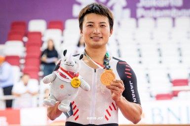 橋本英也が2大会連続の金メダル「自分でレースを組み立てて勝てた」・男子オムニアム/アジア大会2018