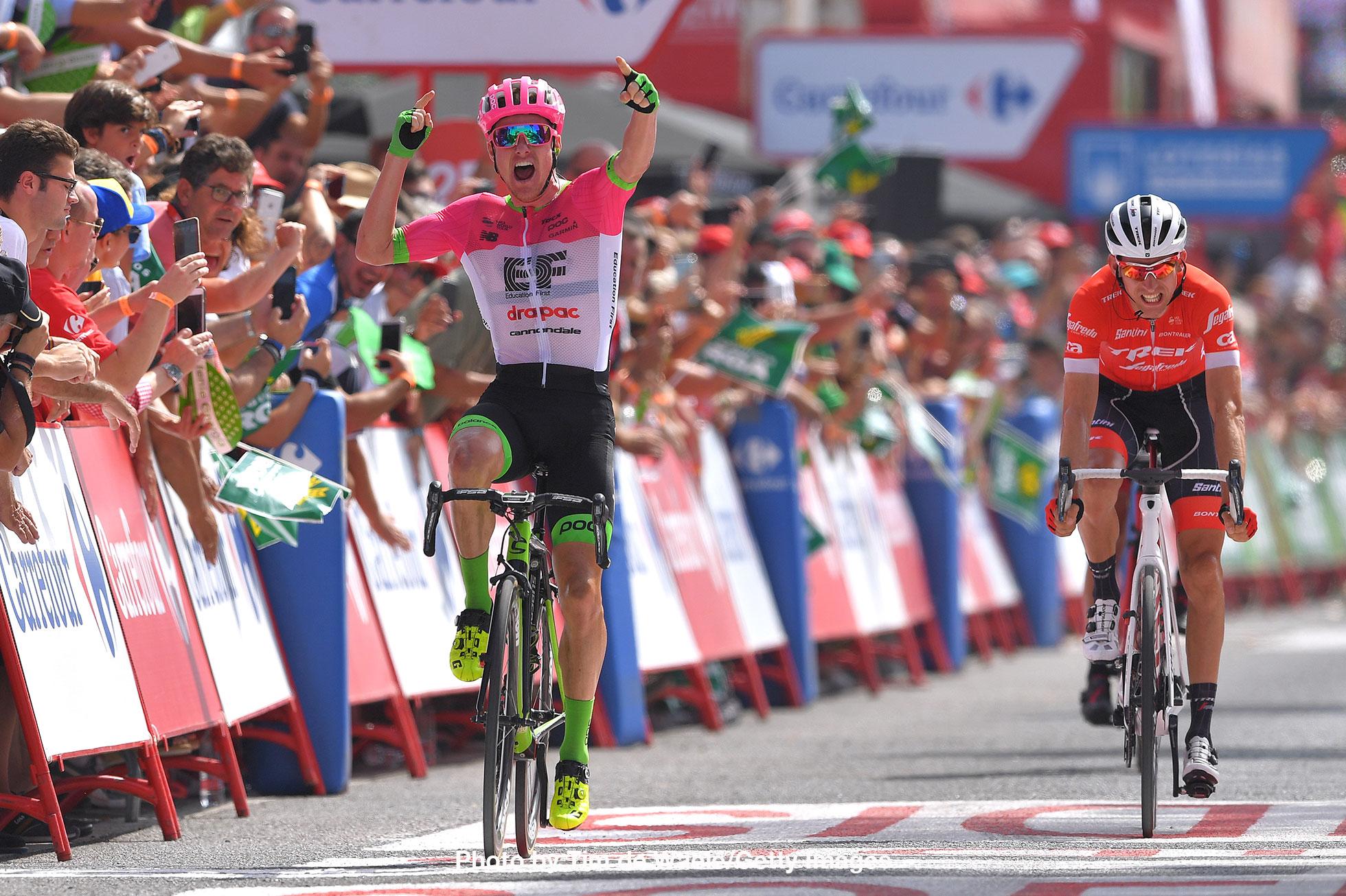 ブエルタ・ア・エスパーニャ2018第5ステージ勝利のサイモン・クラーク