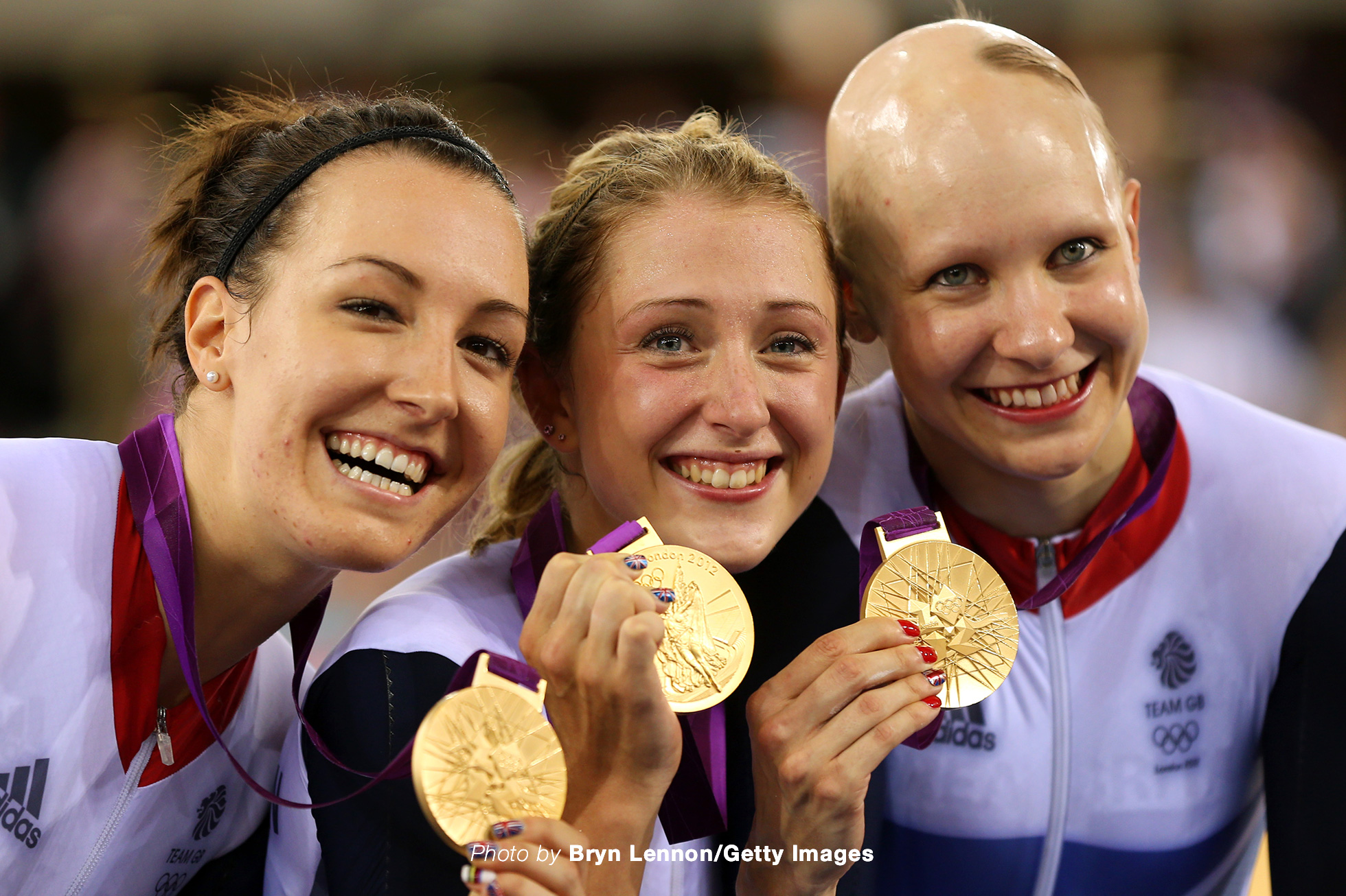Dani King, Laura Trott, and Joanna Rowsell of Great Britain