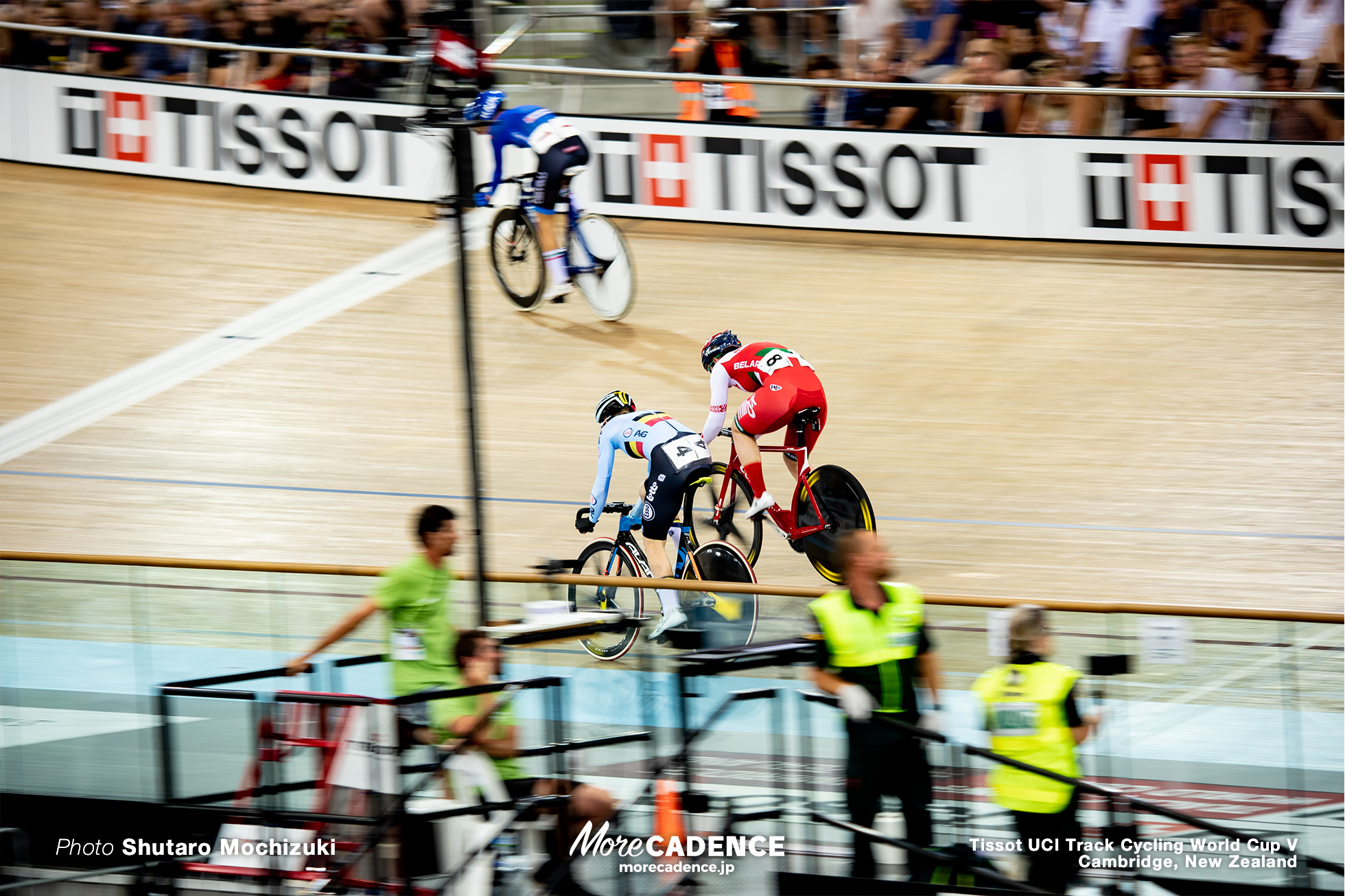 Women's Madison / Track Cycling World Cup V / Cambridge, New Zealand