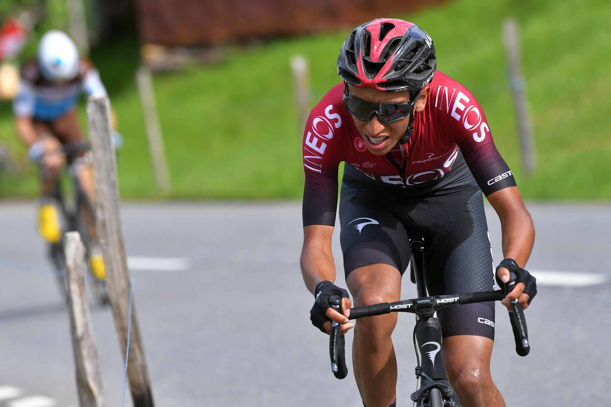 FLUMSERBERG, SWITZERLAND - JUNE 20: Egan Arley Bernal of Colombia and Team INEOS / during the 83rd Tour of Switzerland - Stage 6 a 120,2km stage from Einsiedeln to Flumserberg 1220m / TDS / @tds / #tourdesuisse / on June 20, 2019 in Flumserberg, Switzerland. (Photo by Tim de Waele/Getty Images)