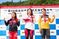 左より瀬古遥加(2位)、丹野夏波(優勝)、朝比奈綾香(3位)