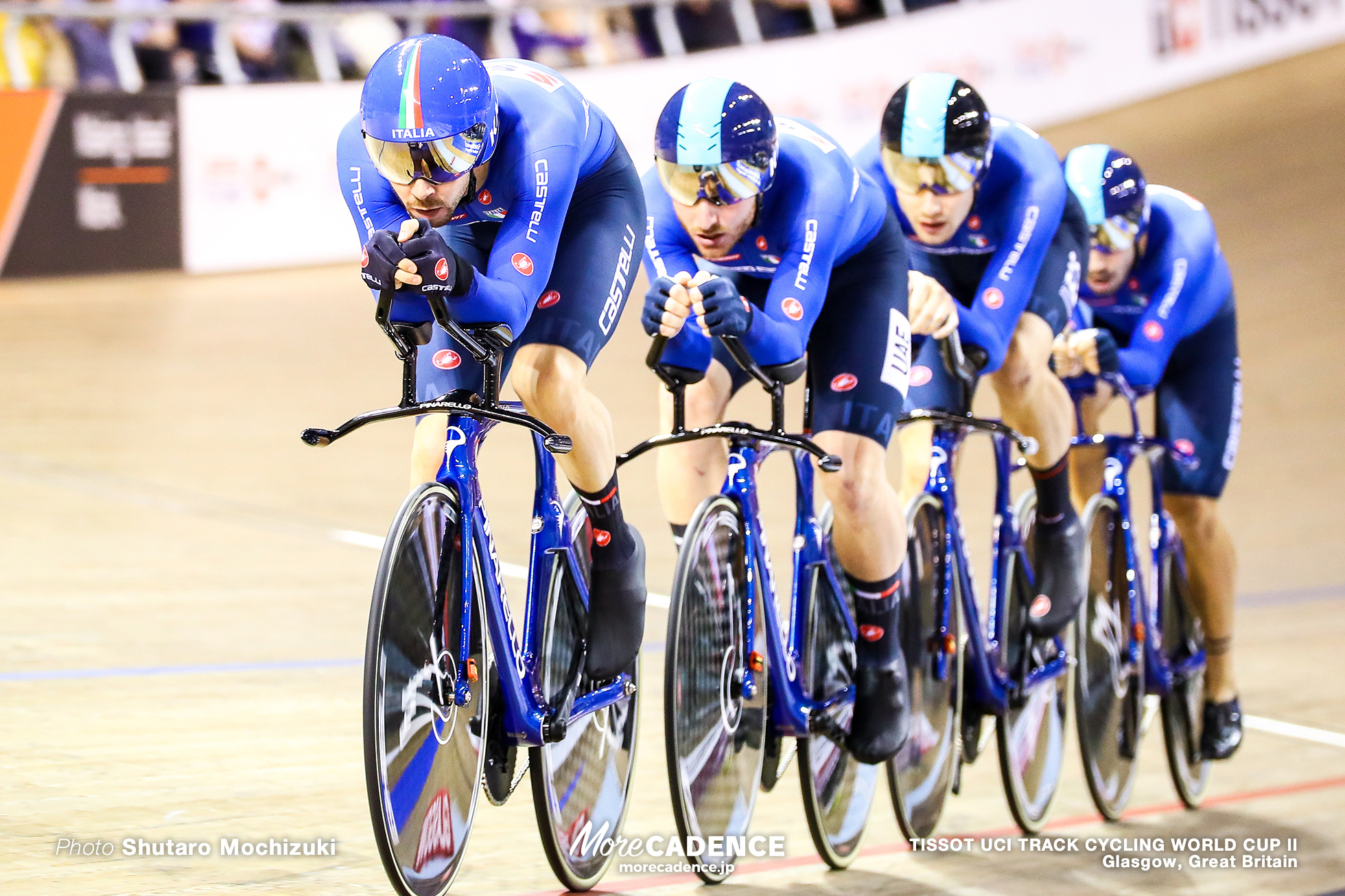 Italy / Men's Team Pursuit / TISSOT UCI TRACK CYCLING WORLD CUP II, Glasgow, Great Britain