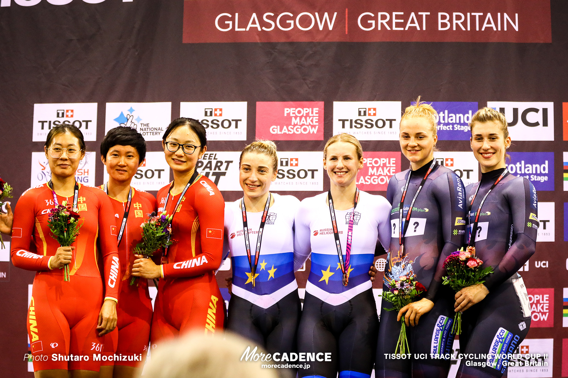 Women's Team Sprint / TISSOT UCI TRACK CYCLING WORLD CUP II, Glasgow, Great Britain