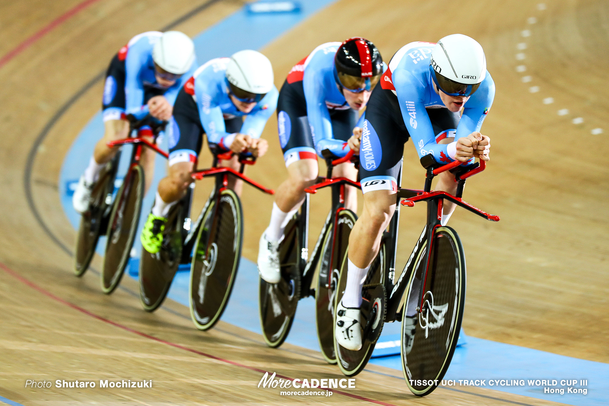 Men's Team Pursuit / TISSOT UCI TRACK CYCLING WORLD CUP III, Hong Kong, Derek GEE デレック・ジー Evan BURTNIK エヴァン・バートニク Chris ERNST クリス・エルンスト Jay LAMOUREUX ジェイ・ラモルー