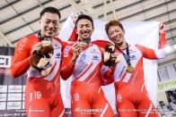 Final / Men's Team Sprint / TISSOT UCI TRACK CYCLING WORLD CUP IV, Cambridge, New Zealand, 深谷知広 新田祐大 雨谷一樹