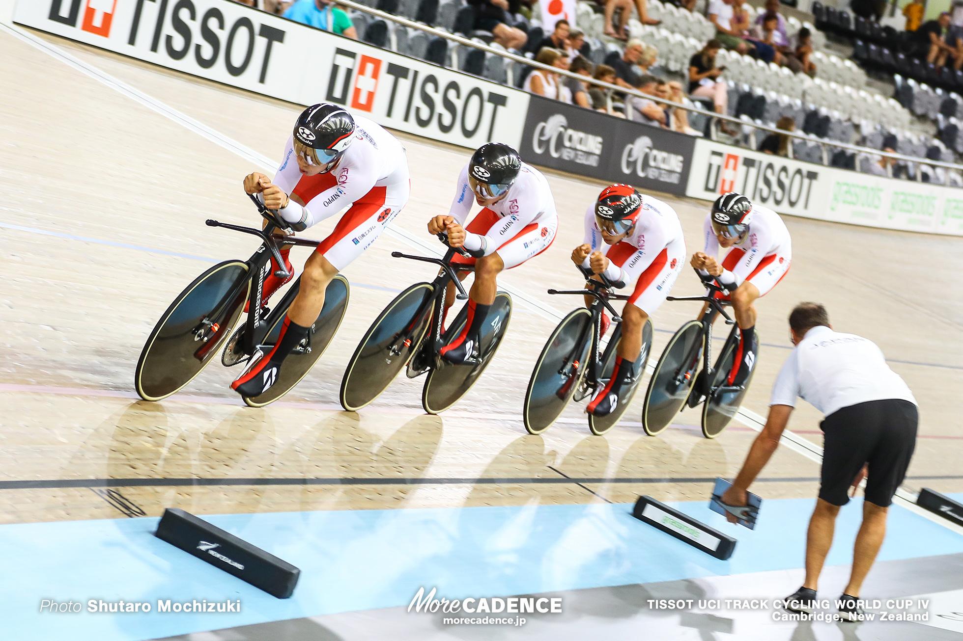 Qualifying / Men's Team Pursuit / TISSOT UCI TRACK CYCLING WORLD CUP IV, Cambridge, New Zealand, 近谷涼 今村駿介 窪木一茂 沢田桂太郎