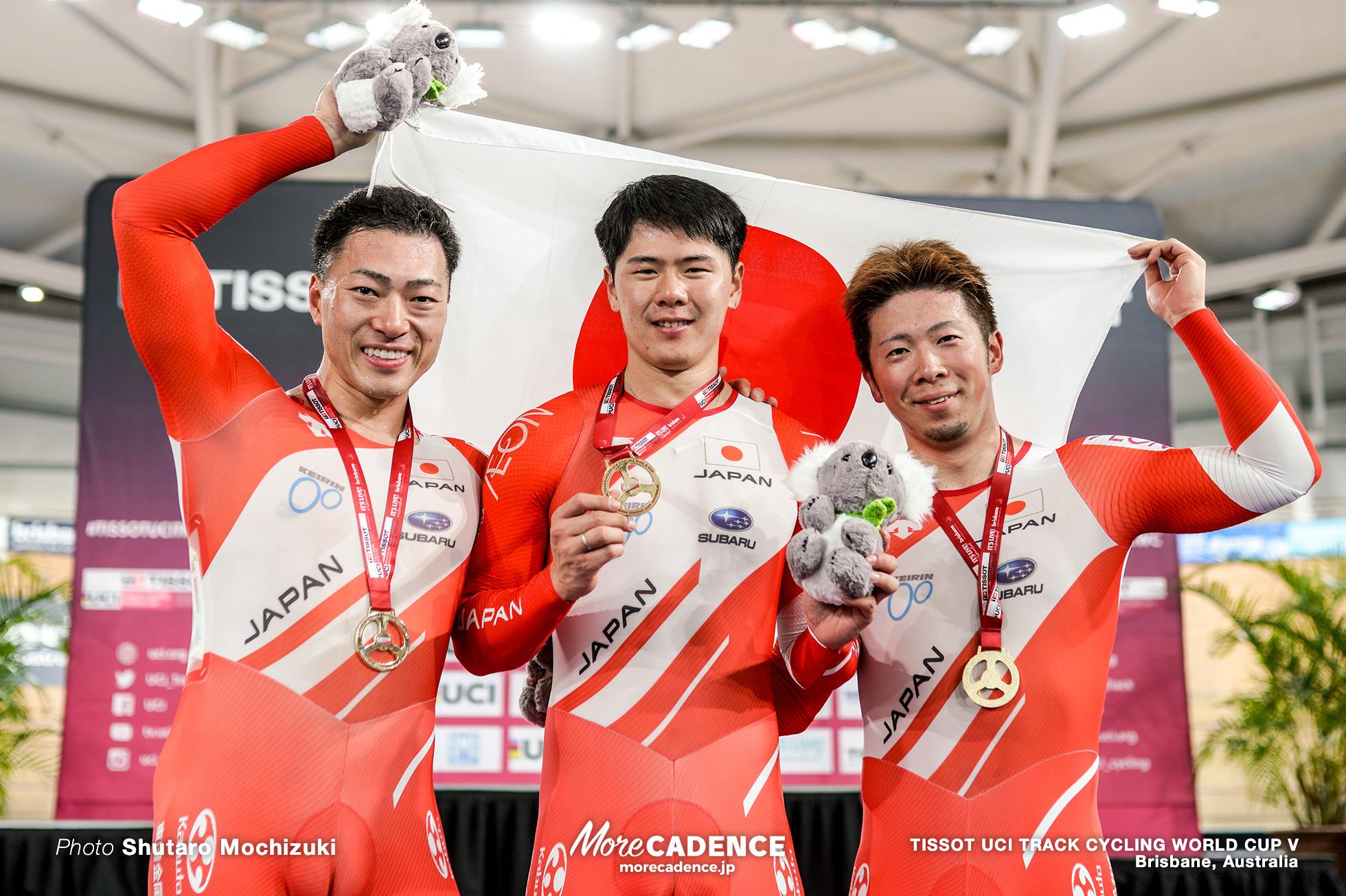 Final / Men's Team Sprint / TISSOT UCI TRACK CYCLING WORLD CUP V, Brisbane, Australia, 深谷知広 長迫吉拓 新田祐大