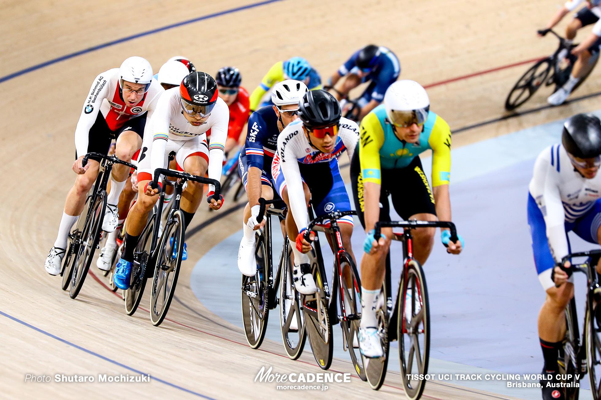 Men's Omnium / Scratch Race / TISSOT UCI TRACK CYCLING WORLD CUP V, Brisbane, Australia
