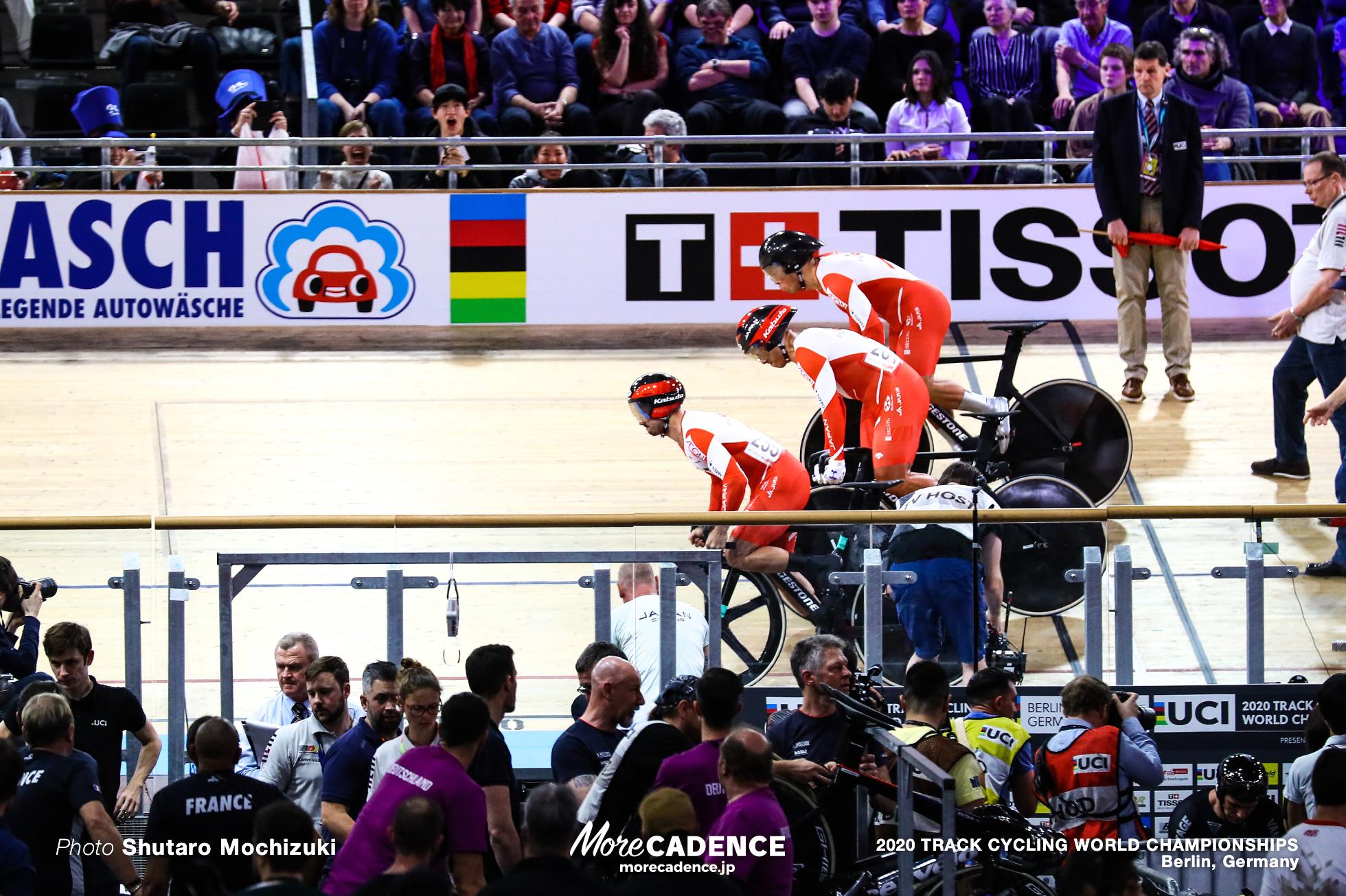Qualifying / Men's Team Sprint / 2020 Track Cycling World Championships, 雨谷一樹 Amagai Kazuki, 新田祐大 Nitta Yudai, 深谷知広 Fukaya Tomohiro