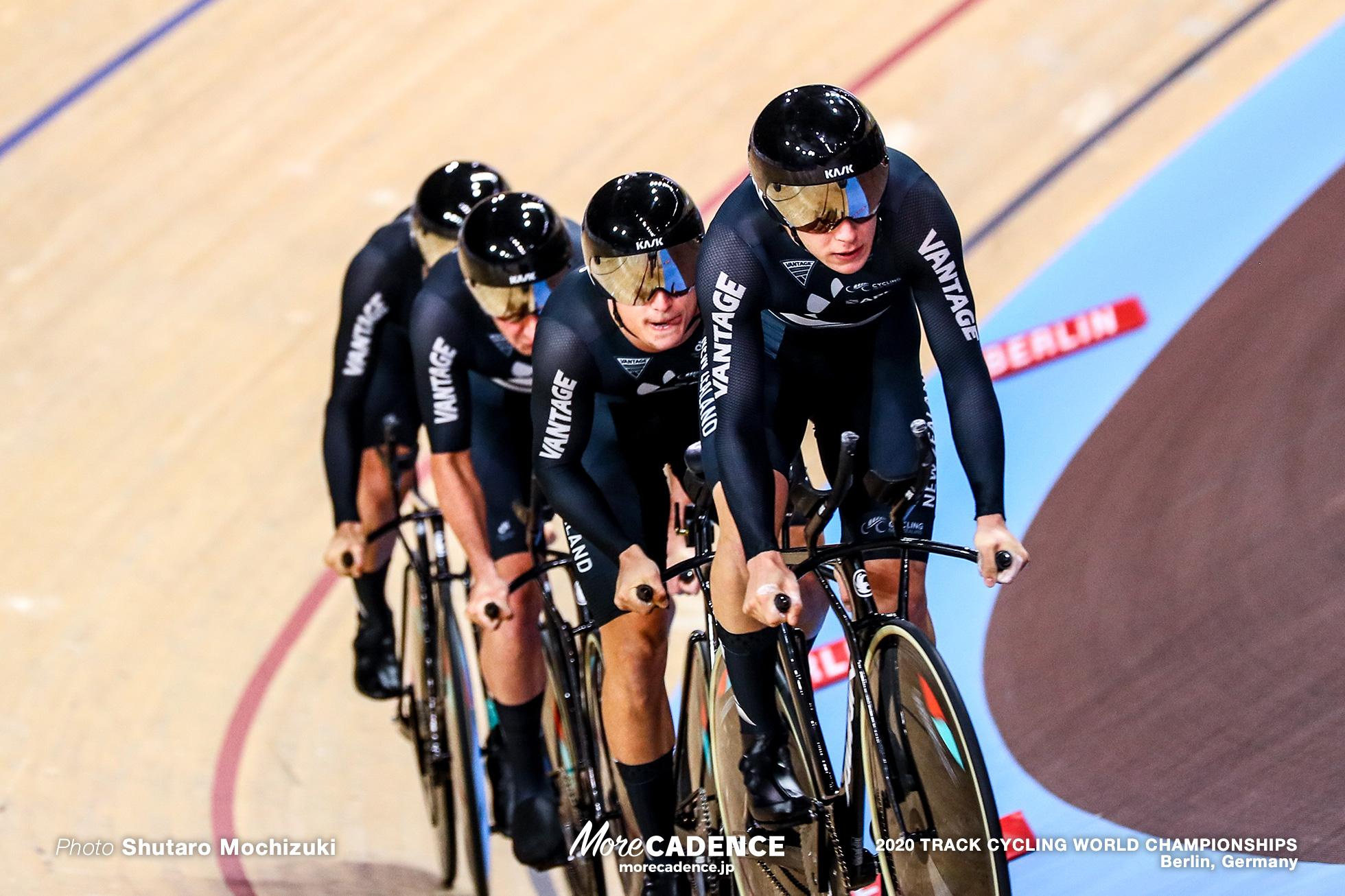 Final / Men's Team Pursuit / 2020 Track Cycling World Championships / New Zealand ニュージーランド / Campbell Stewart キャンベル・スチュワート, Corbin Strong コービン・ストロング, Aaron Gate アーロン・ゲイト, Jordan Kerby ジョーダン・カービー