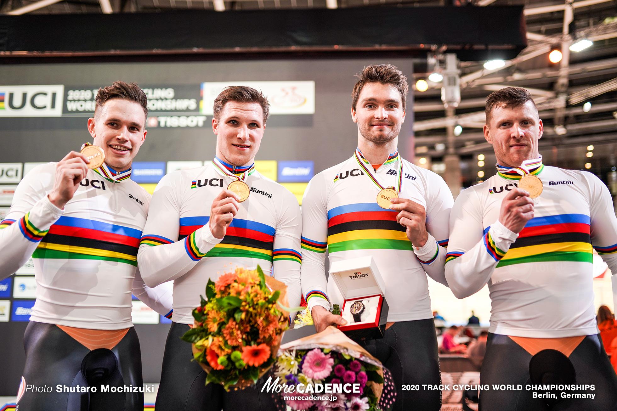 Final / Men's Team Sprint / 2020 Track Cycling World Championships /オランダ Netherlands/ ロイ・バンデンバーグ Roy van den Berg, ハリー・ラブレイセン Harrie Lavreysen, ジェフリー・ホーフラント Jeffrey Hoogland, マティエス・ブフリ Matthijs Buchli