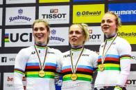 Women's Team Sprint / 2020 Track Cycling World Championships, Pauline Grabosch ポーリン・グラボシュ, Lea Spphie Friedrich リー・ソフィー・フリードリッヒ, Emma Hinze エマ・ヒンツェ