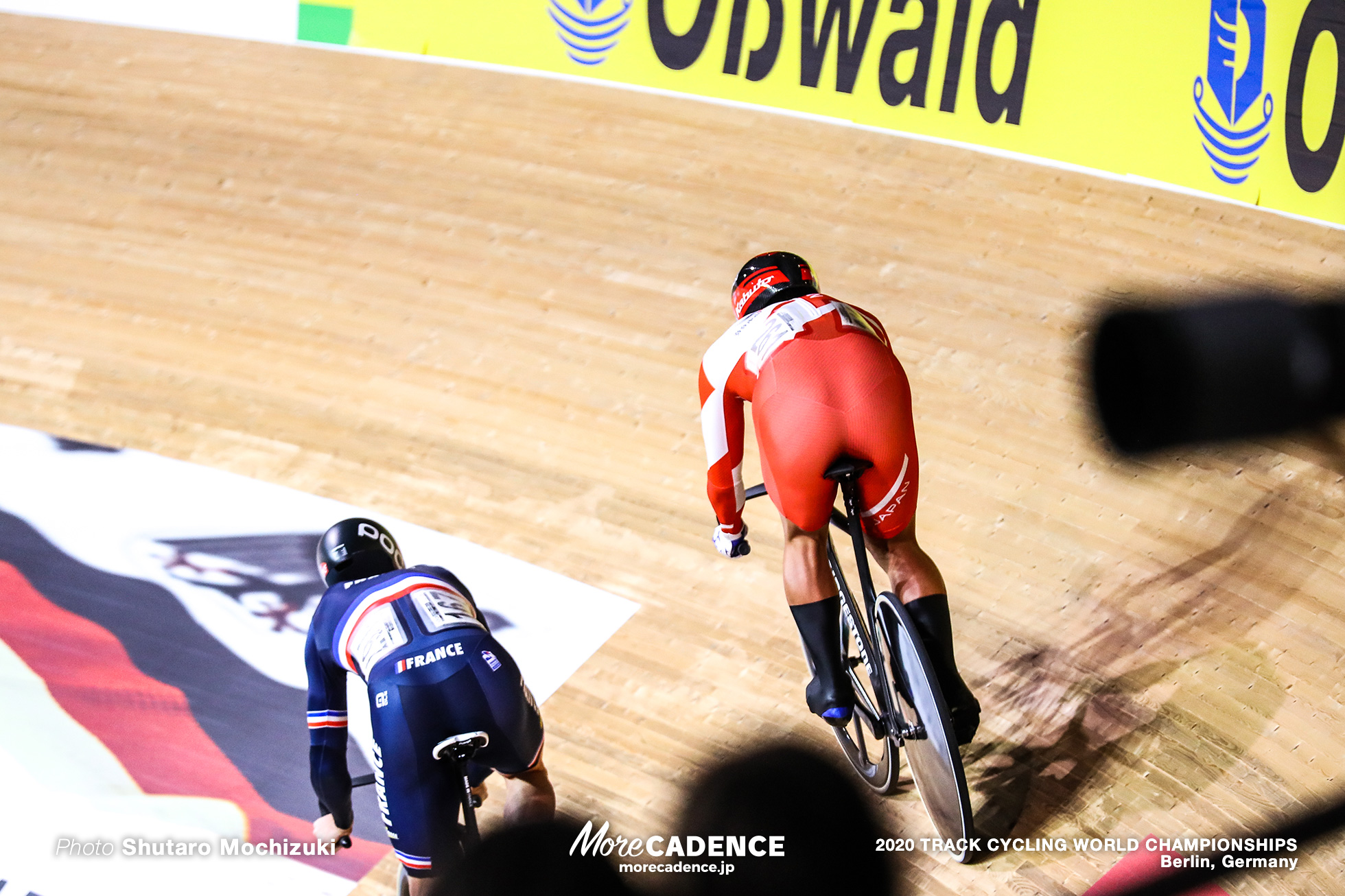1/8 Finals / Men's Sprint / 2020 Track Cycling World Championships, Nitta Yudai 新田祐大, Quentin Caleyron クエンティン・カレロン