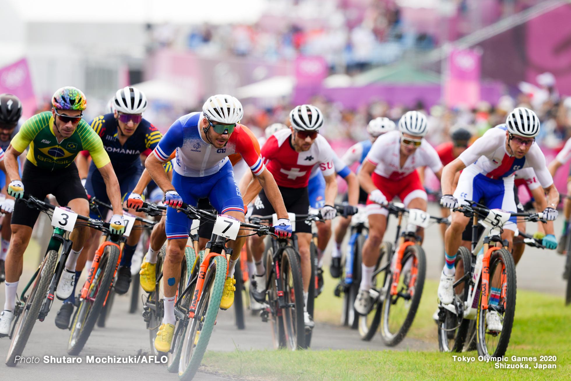ヴィクトル・コレツキー Victor Koretzky (FRA), JULY 26, 2021 - Cycling : Men's Cross-country during the Tokyo 2020 Olympic Games at the Izu MTB Course in Shizuoka, Japan. (Photo by Shutaro Mochizuki/AFLO)