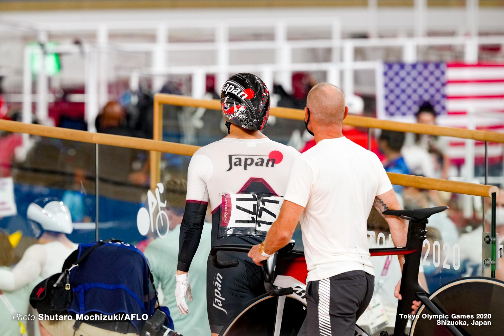 新田祐大 Yuadai Nitta (JPN), Men's Sprint Qualifying AUGUST 4, 2021 - Cycling : during the Tokyo 2020 Olympic Games at the Izu Velodrome in Shizuoka, Japan. (Photo by Shutaro Mochizuki/AFLO)
