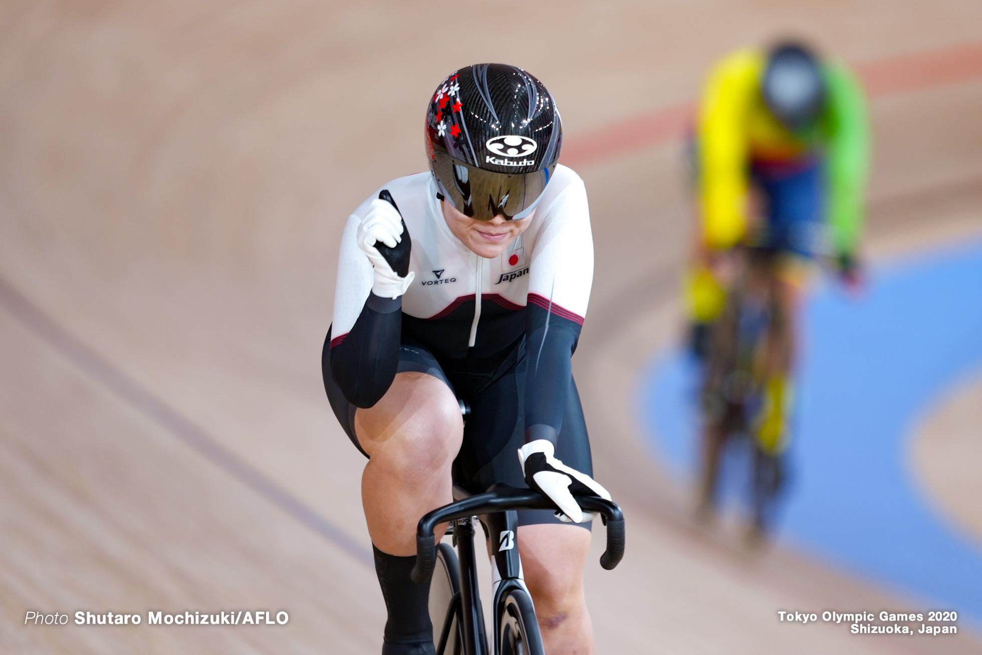 小林優香 Yuka Kobayashi (JPN), Women's Keirin 1st Round AUGUST 4, 2021 - Cycling : during the Tokyo 2020 Olympic Games at the Izu Velodrome in Shizuoka, Japan. (Photo by Shutaro Mochizuki/AFLO)