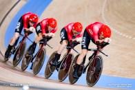 ラッセ・ノーマン・ハンセン Lasse Norman Hansen (DEN), ニクラス・ラースン Niklas Larsen (DEN), フレデリック・マドセン Frederik Madsen (DEN), ラスムス・ペダーセン Rasmus Pedersen (DEN), Men's Team Pursuit Final AUGUST 4, 2021 - Cycling : during the Tokyo 2020 Olympic Games at the Izu Velodrome in Shizuoka, Japan. (Photo by Shutaro Mochizuki/AFLO)
