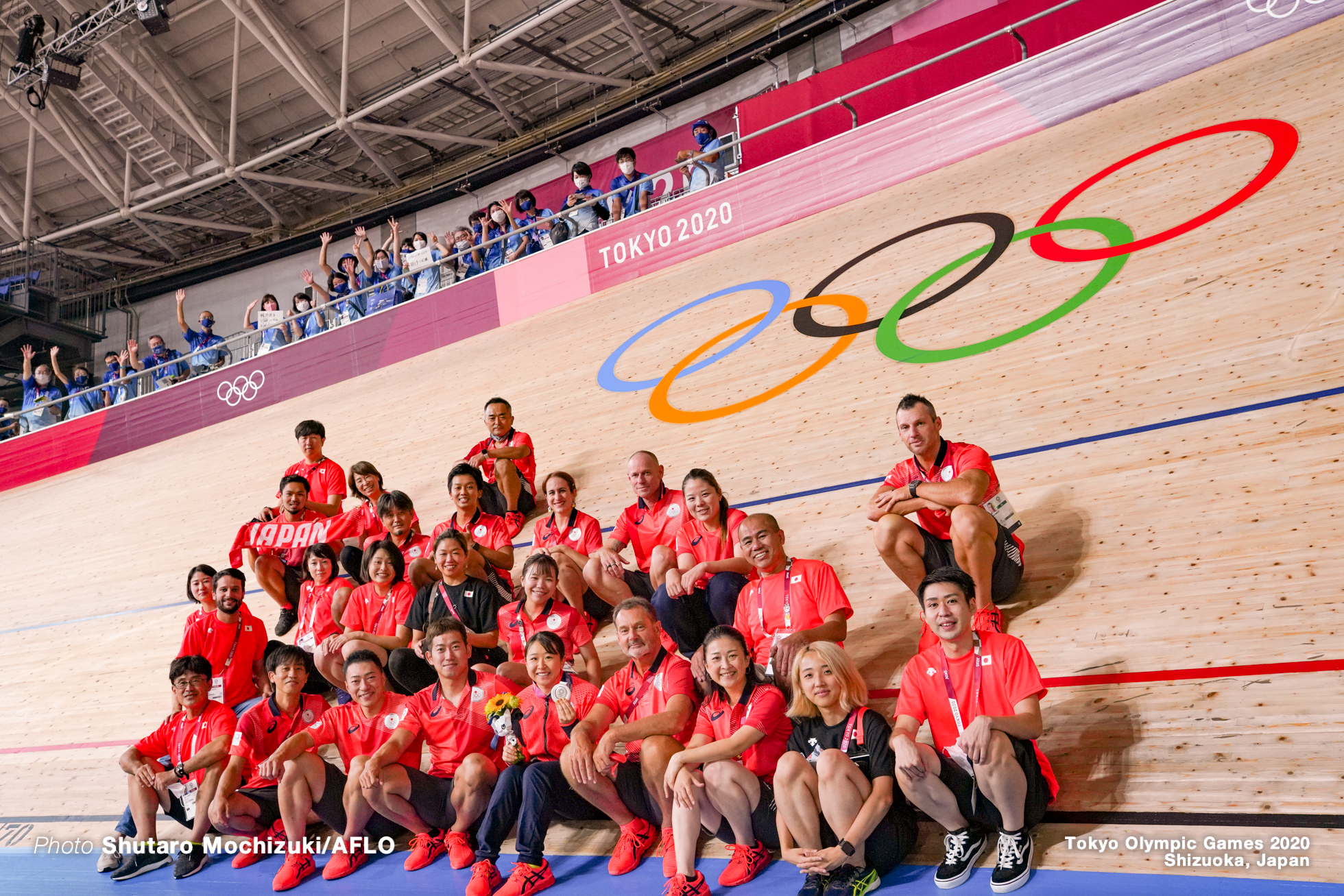 TEAM JAPAN AUGUST 8, 2021 - Cycling : during the Tokyo 2020 Olympic Games at the Izu Velodrome in Shizuoka, Japan. (Photo by Shutaro Mochizuki/AFLO)