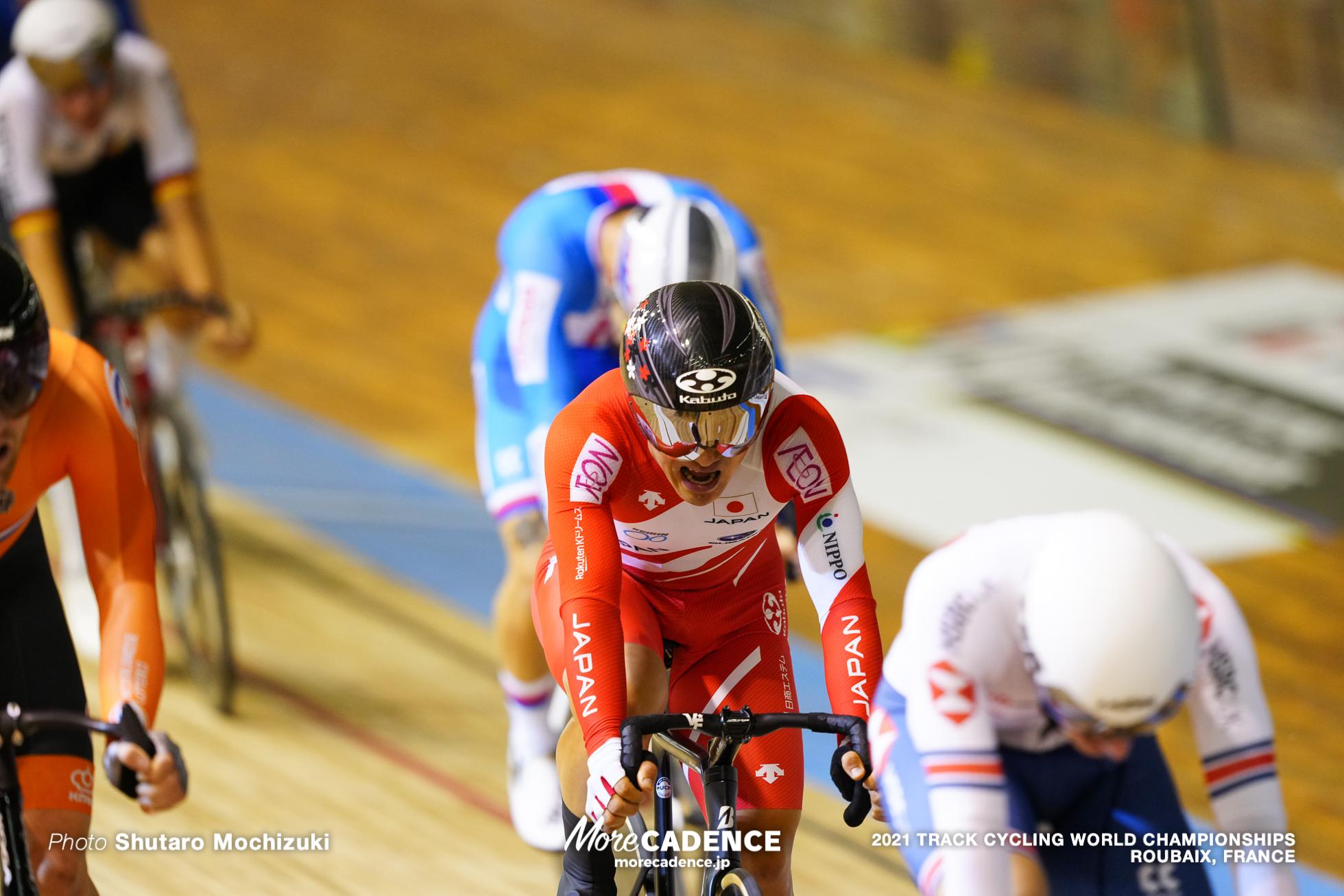 Men's Scratch Race / 2021 Track Cycling World Championships, Roubaix,KUBOKI Kazushige(JPN)窪木一茂