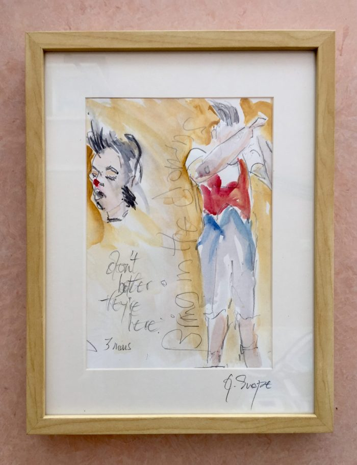 Pape Luxo, Watercolour by Geraldine Snape