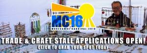 MC16 Trade & Craft Stall Applications are OPEN! Apply today