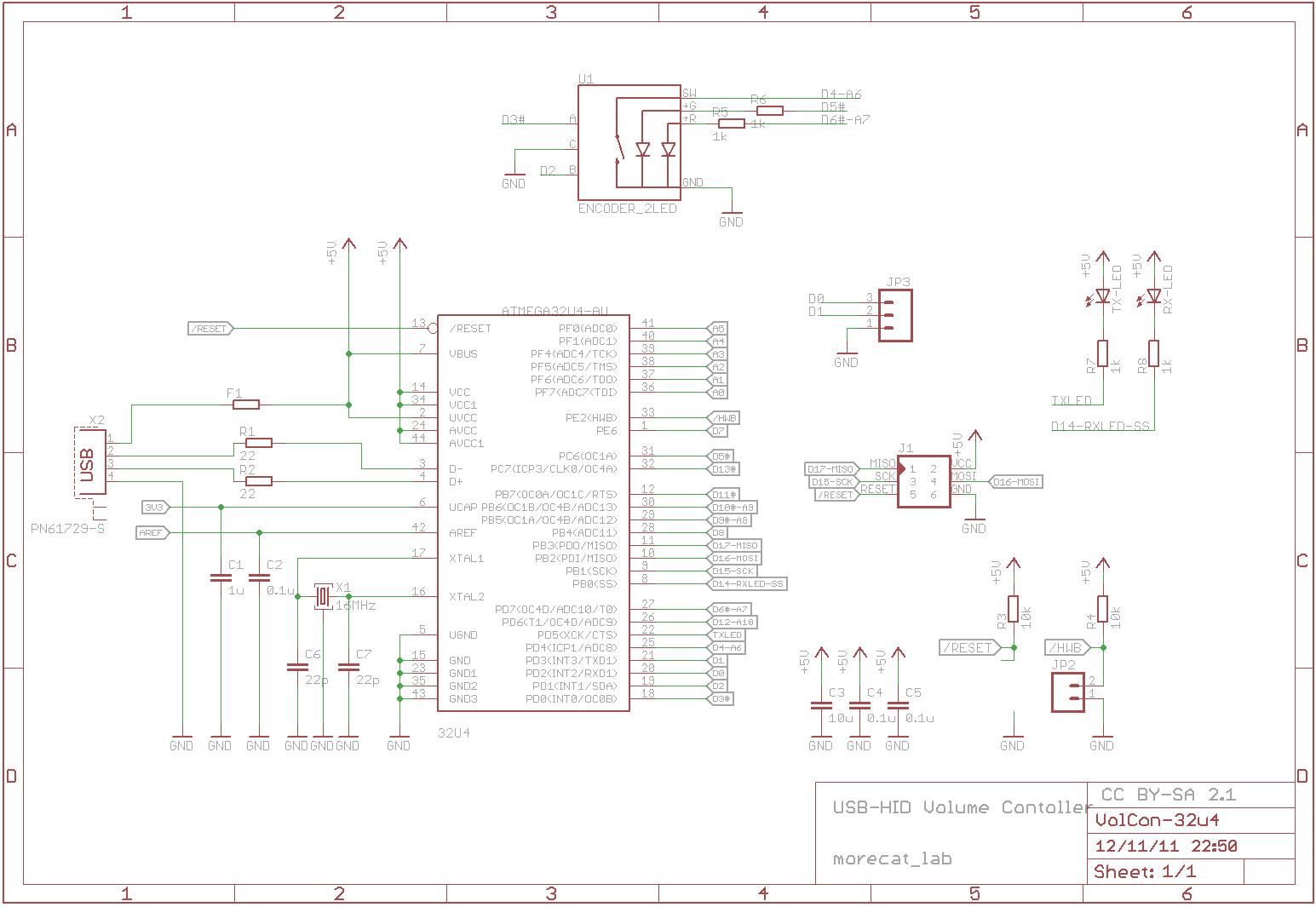 Morecat Lab Usb Hid Volume Controller Pcb