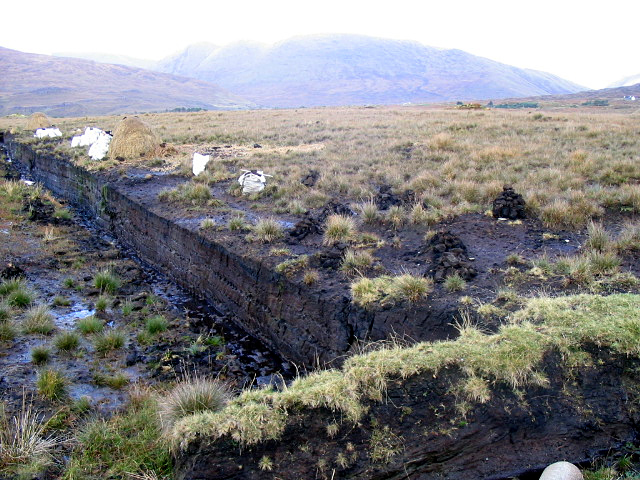 A peat bog in Ireland