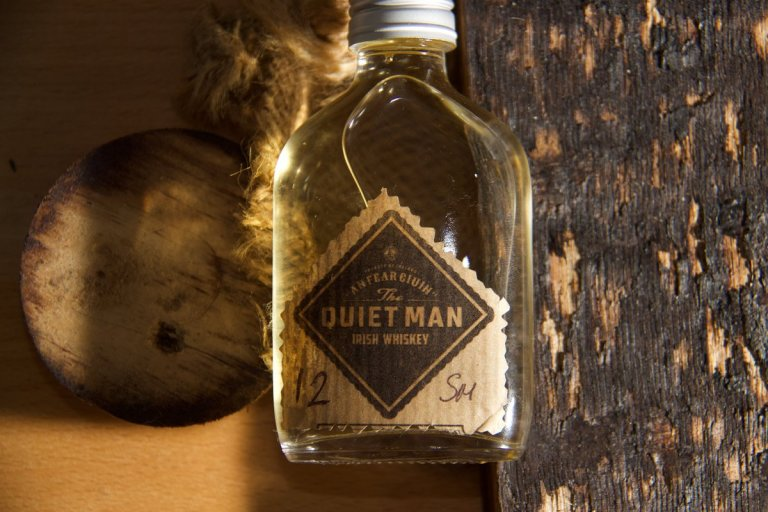 The Quiet Man 12yo single malt sample bottle