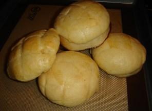 This recipe makes 10 mini pineapple buns, or 5 regular-sized buns.